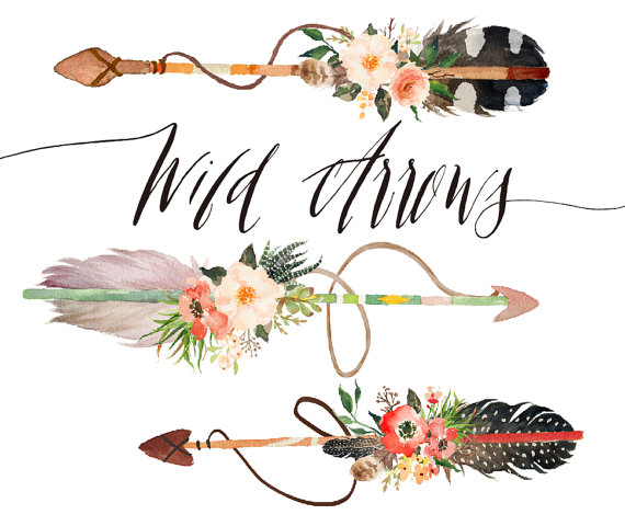 Arrow clipart boho #1