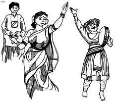 Danse clipart contemporary dance Coloring Pages of India India