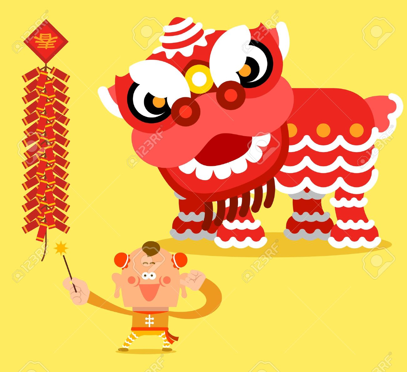Asians clipart chinese dragon parade Lion lion dance  new