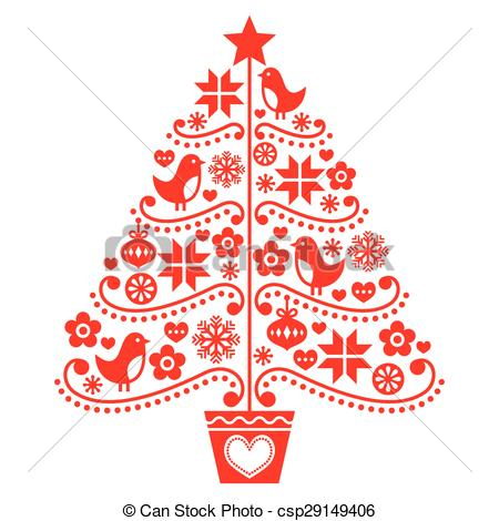 Christmas Tree clipart logo Retro design of Clipart design