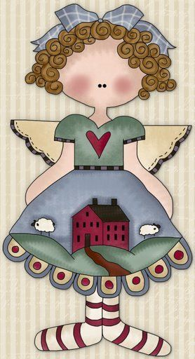 Folk clipart country ART COUNTRY images PRIMITIVES Pinterest