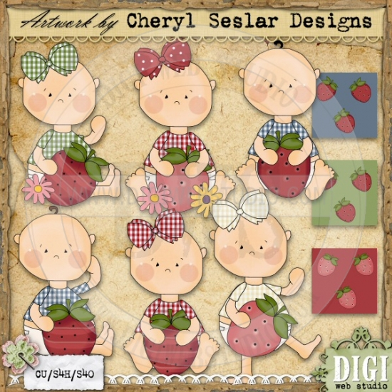 Folk clipart country 1 Web Strawberry Country Clip