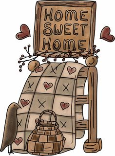 Folk clipart country Little homesweethome1 sheep Art