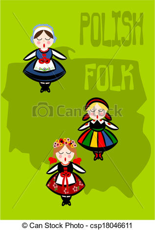 Folk clipart drawing Polish Polish folk Polish folk