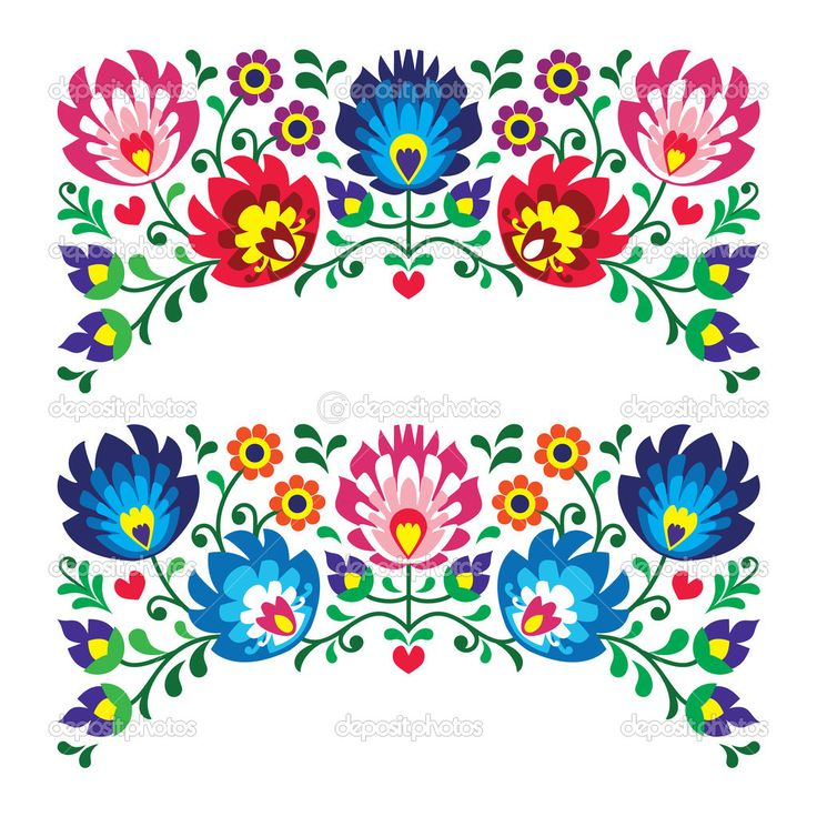 Folk clipart folklore Embroidery ideas polnische The Muster