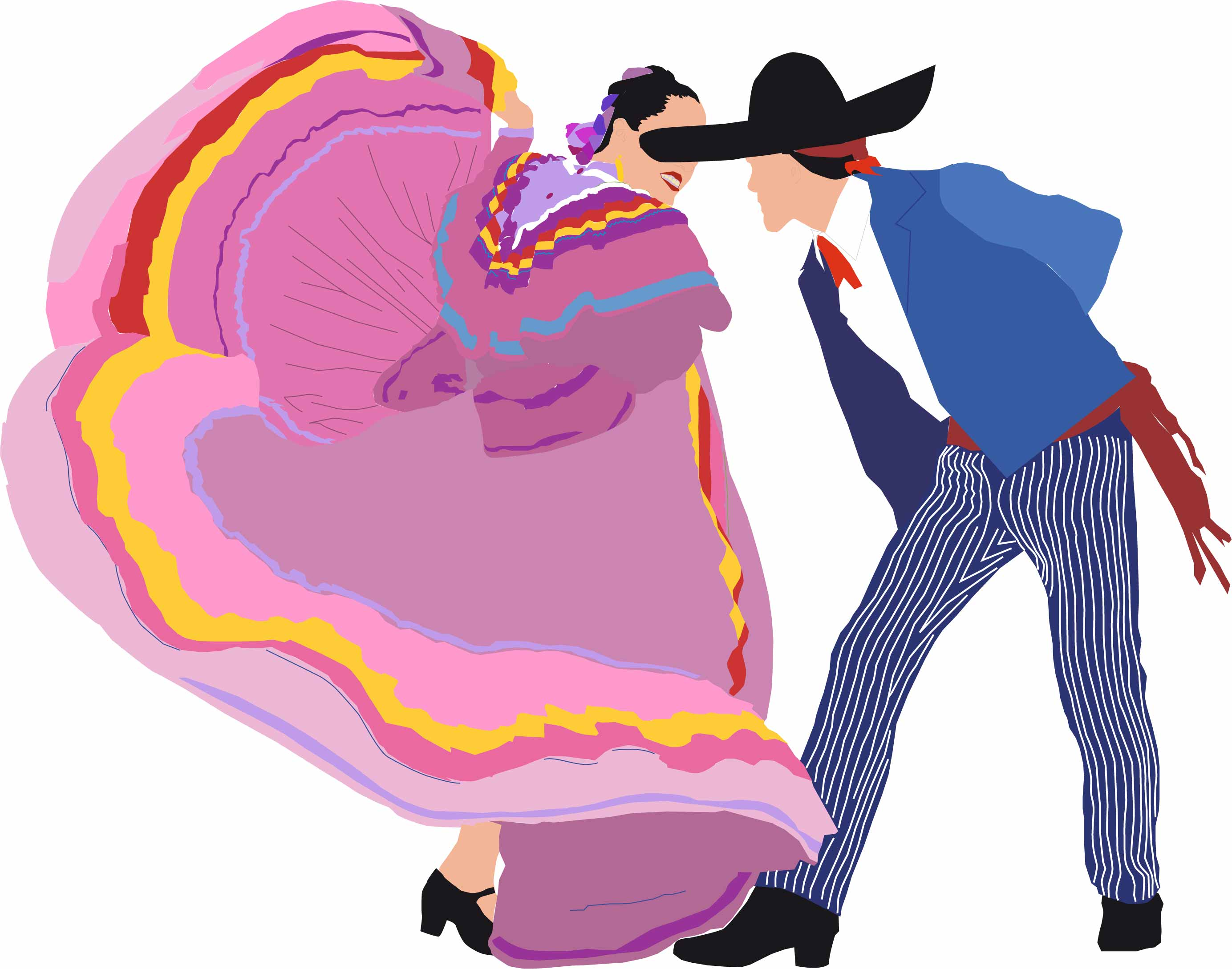 Traditional clipart mexican dancer Folklorico clipart Clipart mexican Cliparthut