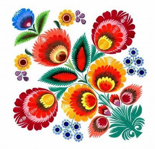 Folk clipart paper flower Ideas Best Wycinanki folk Polish
