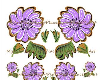 Folk clipart paper flower Flowers Download Flowers Mexican Scrapbooking