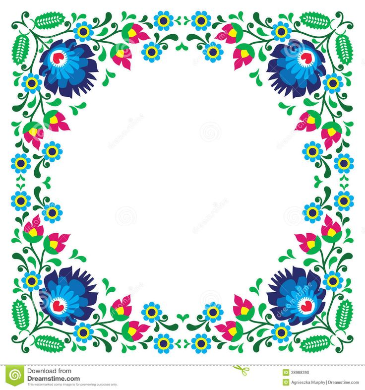 Folk clipart paper flower About pattern on folk pattern