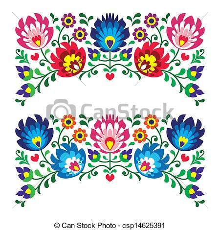 Folk clipart paper flower Art 181 on images patterns