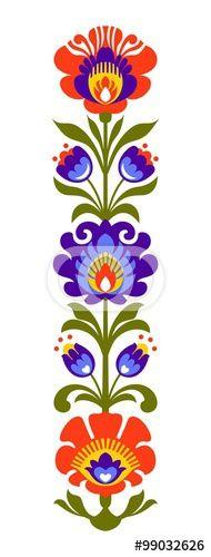 Folk clipart paper flower Heart Me Floral Design Polish™