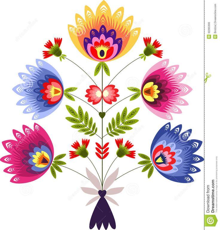 Folk clipart paper flower On best on pattern about