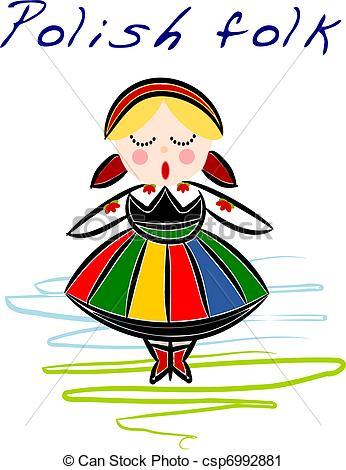 Folk clipart poland Costume  Poland Clip Clipart