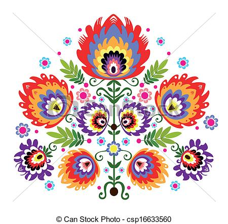 Folk clipart poland Folk csp16633560 Folk Embroidery Folk