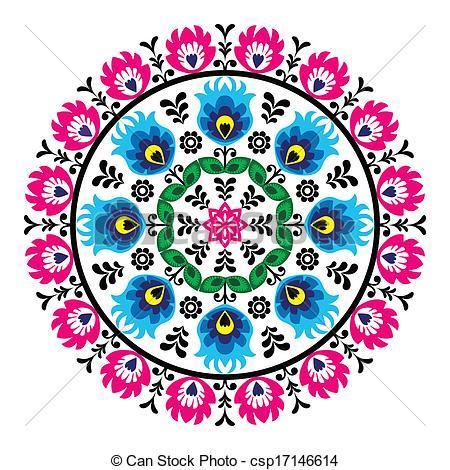 Folk clipart poland Art folk Images Poland mosaic