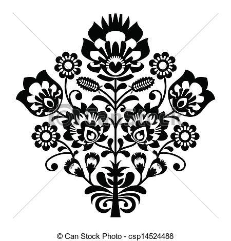 Folk clipart poland Folk pattern  polish folk