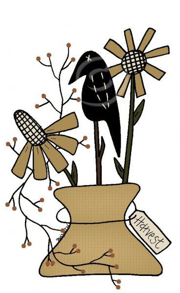 Country clipart crow About PatternMart Pinterest Primitive best