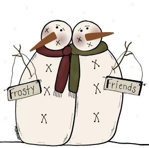 Snowman clipart folk art Best about Christmas images this