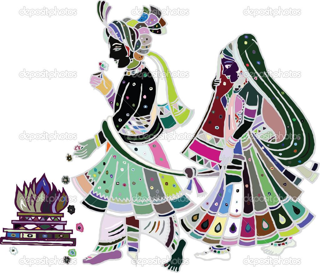 Coture clipart hindu family Wedding Clip Art Wedding art