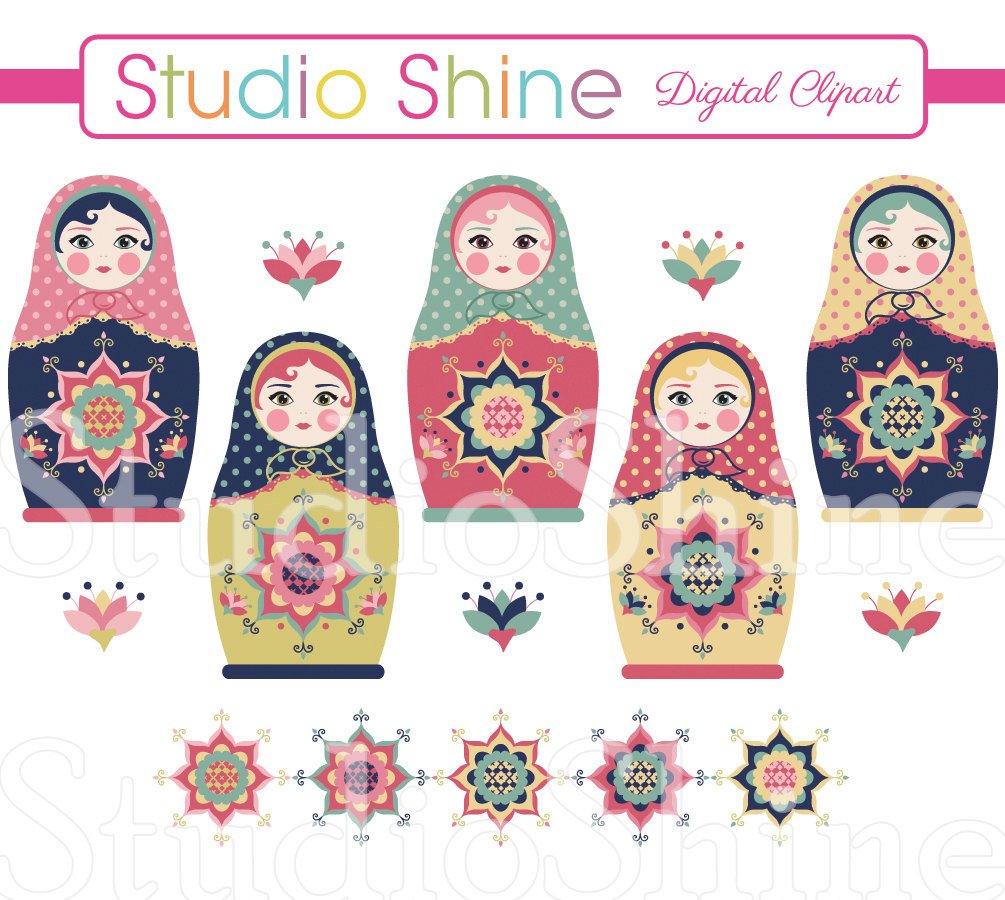Doll clipart digital Cute Clipart Doll Digital Doll