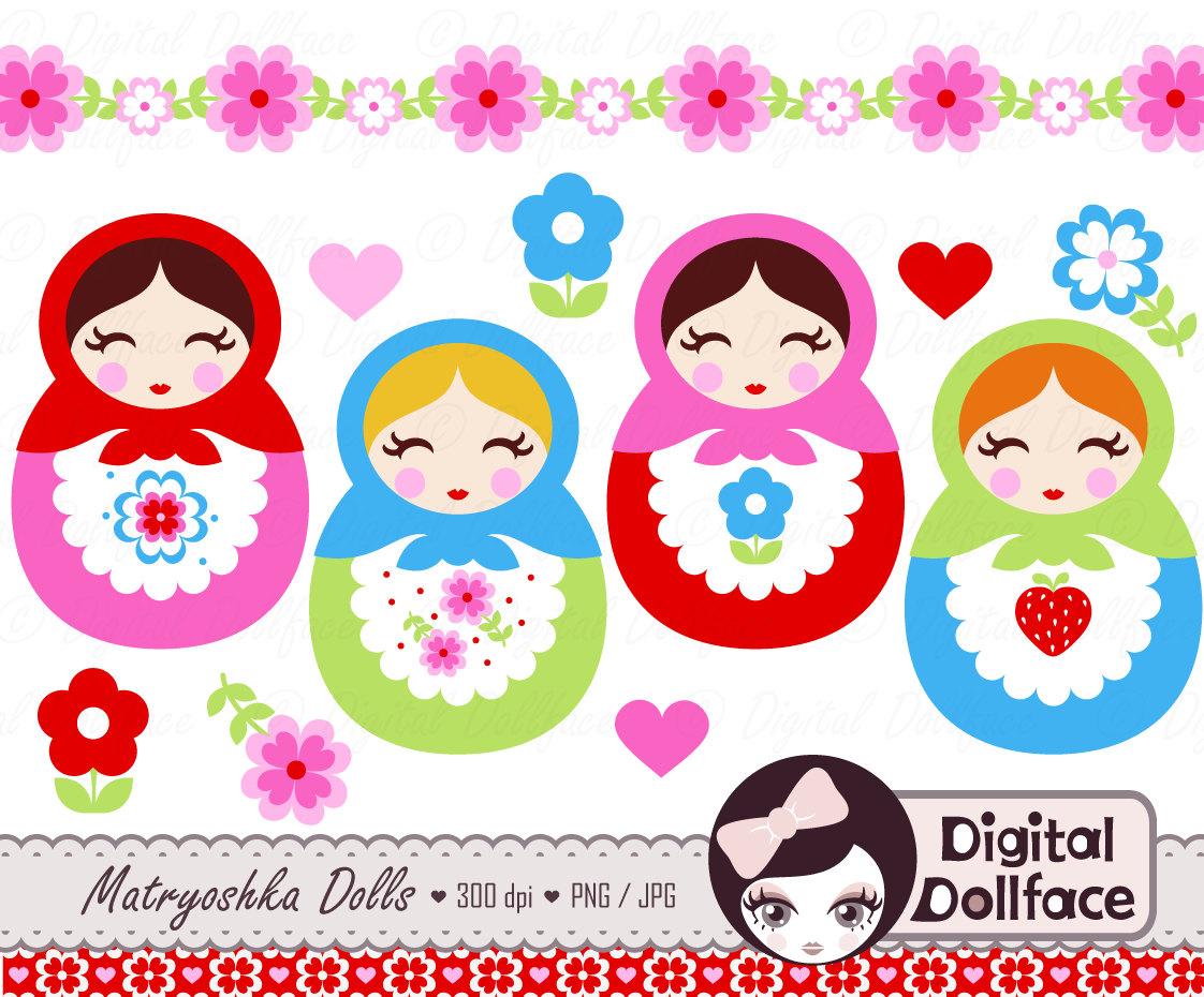 Russia clipart Russian Doll Clipart #5