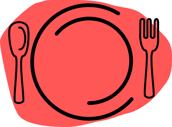Plate clipart clip Spoon Black fork clipart clipart