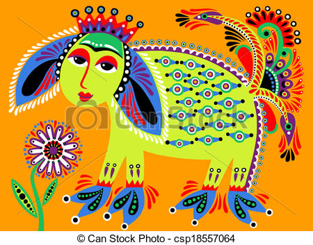 Folk clipart ukrainian Folk unusual painting painting illustration