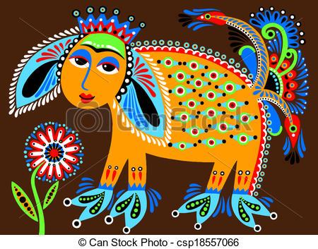 Folk clipart ukrainian Folk animal ethnic painting ethnic