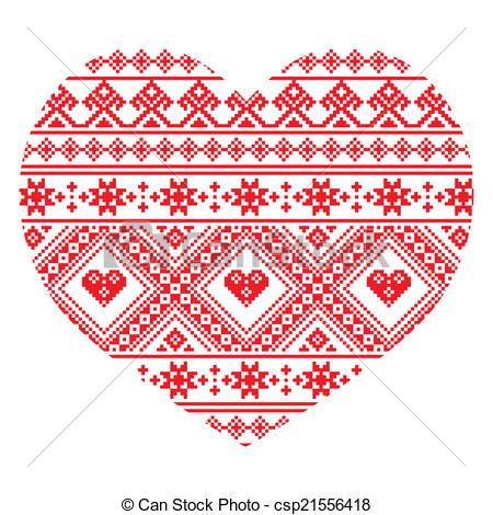 Folk clipart ukrainian Art Clip art heart seamless