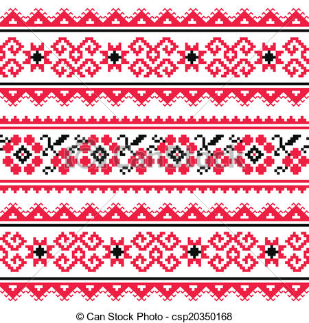 Folk clipart ukrainian Vector Clip pattern of Traditional