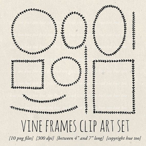 Folk clipart vine wreath Frames best images laurel and