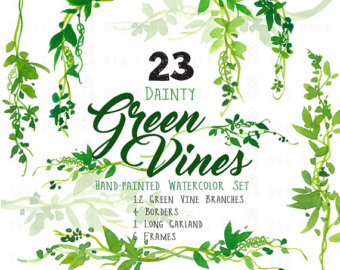 Wind clipart vine Vines and Leaves Clip Wreath