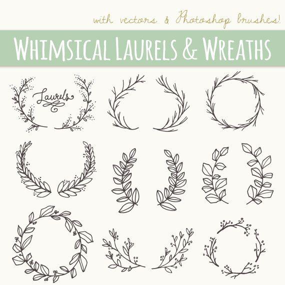 Photoshop clipart hand CLIP wreath Laurel // by
