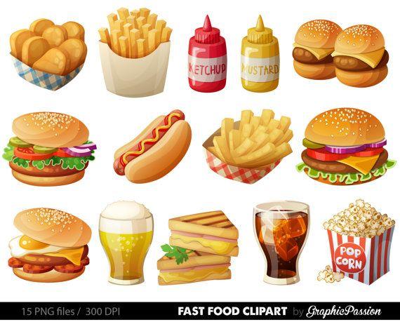 Food clipart Fast ideas GraphicPassion on Hamburger