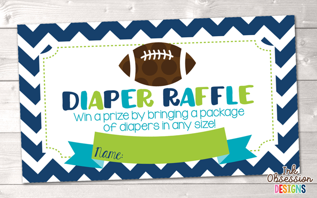 Football clipart baby shower Bradley Diaper Erin Baby Football