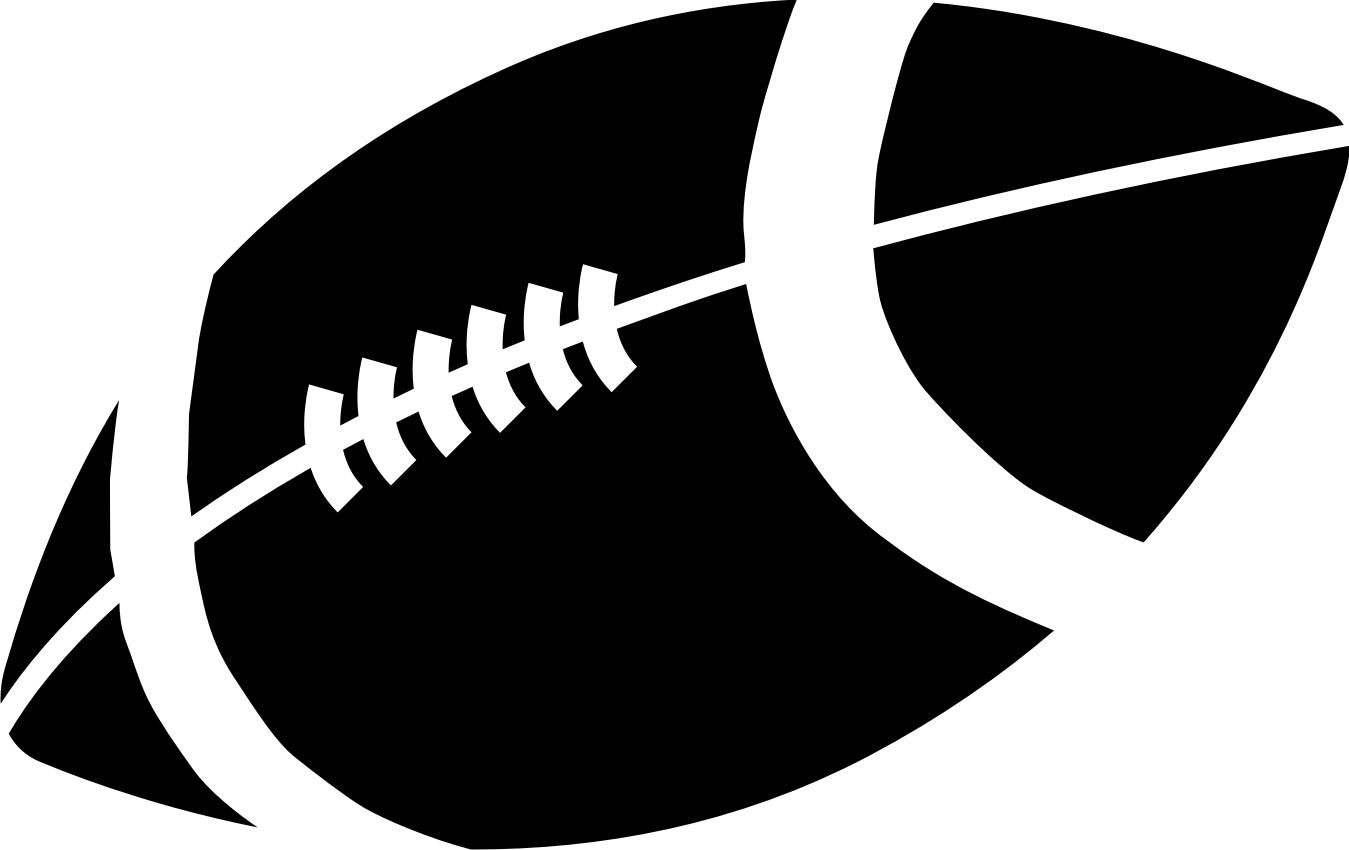 Football white black clipart black