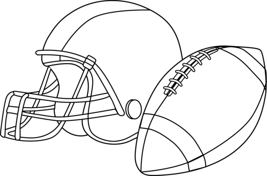 Football clip black clipart and