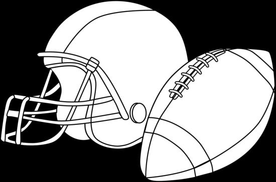 Ball clipart football helmet Black football clip white