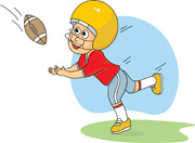 Football clipart catch Player Search football Size: catching