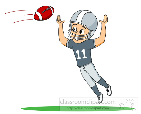 Football clipart catch Graphics player Football to football