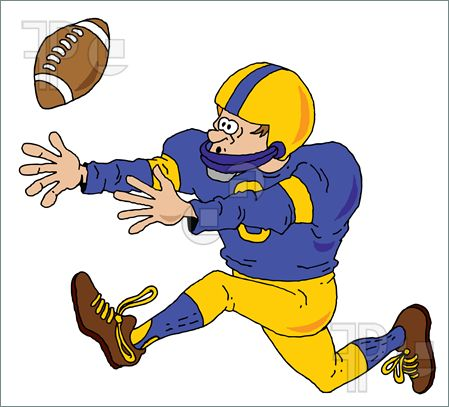 Football clipart catch Catch on Playing Clipart Clipart