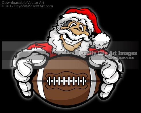 Football clipart christmas (10+) Clipart santa art football
