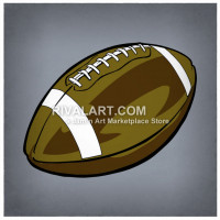 Football clipart colored #14