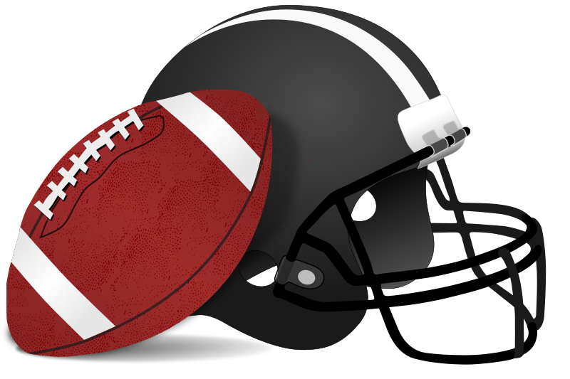 Football clipart colored #7