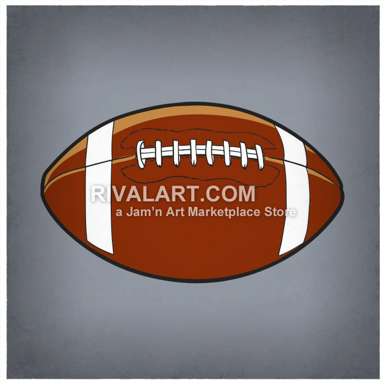 Football clipart colored #13