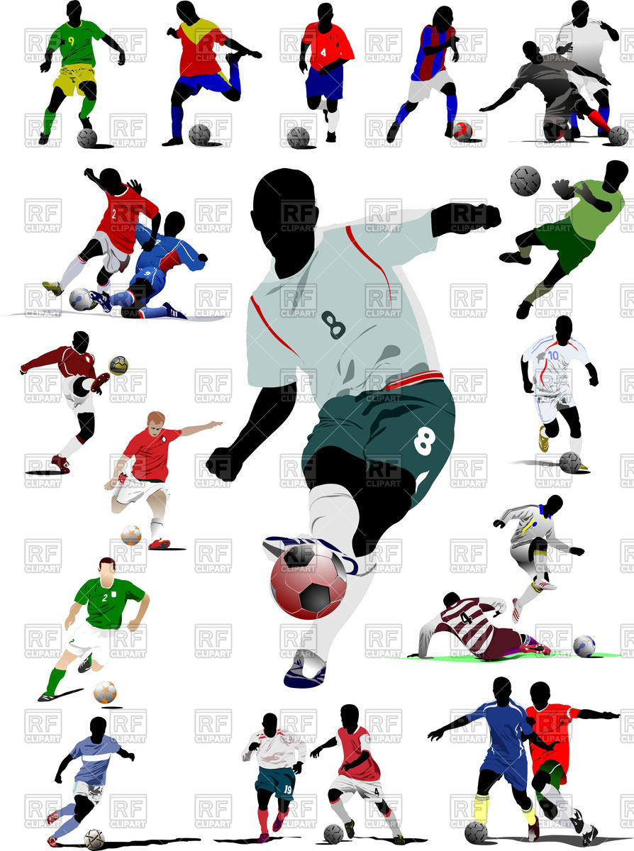 Football clipart colored #15