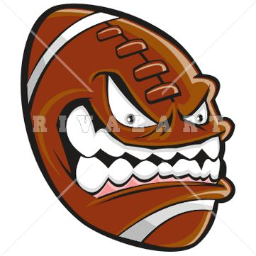Football clipart colored #6