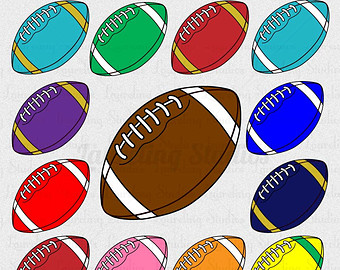 Football clipart colored #8