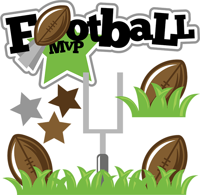 Football clipart cute SVG file clipart svg MVP