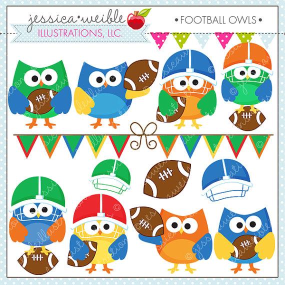 Football clipart cute Il_570xn Digital Use Football Clipart